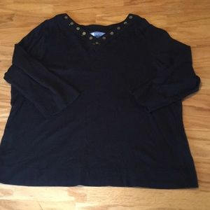 Koret Top with beads and gold sequins SZ 1X